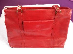 Italion Fashion - Schöne weinrote Handtasche / Schultertasche von pelle