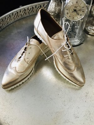 Lavorazione Artigiana Zapatos Budapest color rosa dorado