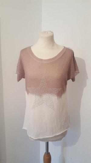 Italy Design Shirt mit Nietenstern Farbverlauf Größe 38