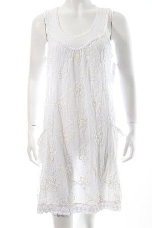 Italy Kleid weiß Bortenbesatz