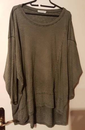 Camisa larga verde oliva
