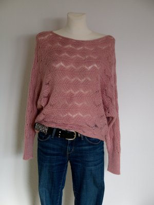 ITALY schöner Oversize Pullover in altrosa rose puder  NEU