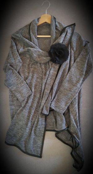 Knitted Blazer black-grey