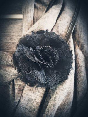 Gebreide blazer zwart-grijs