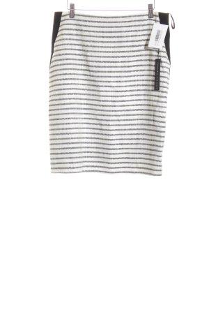 Ivanka Trump Pencil Skirt black-natural white striped pattern elegant