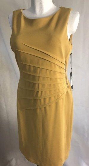 Ivanka Trump Damen Kleid Etui Kleid Okkergelb Neu Gr 40