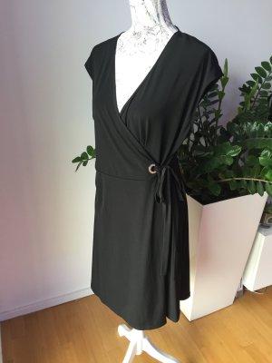 Ivanka Trump Kleid Wickelkleid Gr L schwarz Gold wie neu