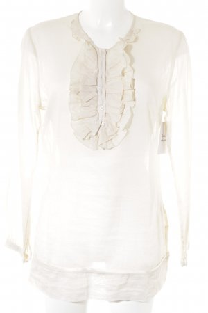 Ivi collection Rüschen-Bluse creme Boho-Look