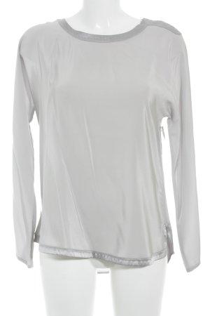 Ivi collection Zijden blouse zilver elegant
