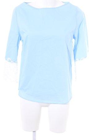 Ivivi Langarm-Bluse himmelblau-wollweiß Casual-Look