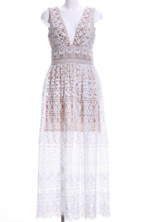 Ivivi Lace Dress white-light brown floral pattern casual look