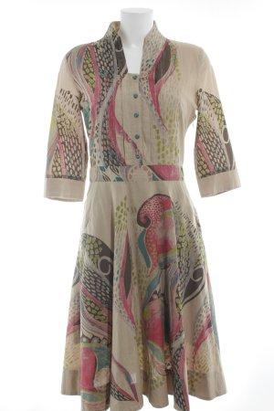Ivko Blusenkleid abstraktes Muster klassischer Stil