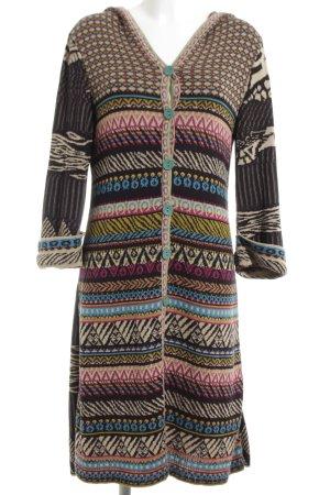 Ivko Knitted Coat brown mixed pattern vintage look