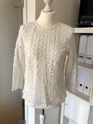 Ivy & Oak Lace Blouse natural white cotton