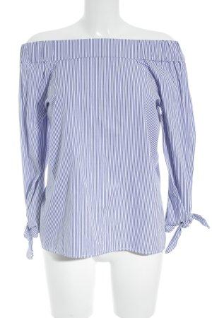 Ivy & Oak Carmen-Bluse weiß-blau Streifenmuster Elegant