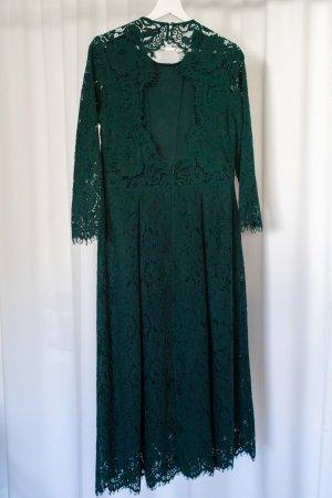 Ivy & Oak Elegantes Midi-Spitzenkleid Grün