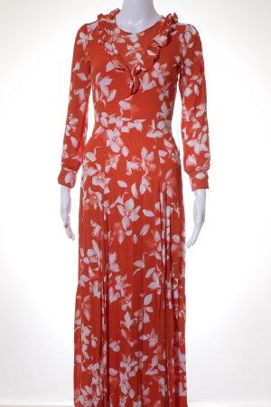 Ivy & Oak Maxikleid rot-weiß florales Muster 70ies-Stil