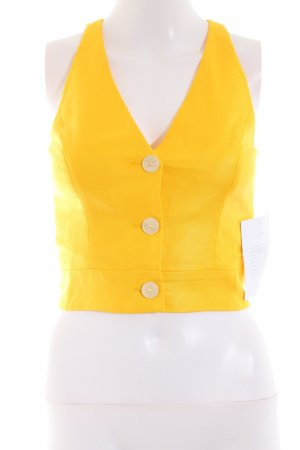 Ivy & Oak Knitted Vest yellow extravagant style