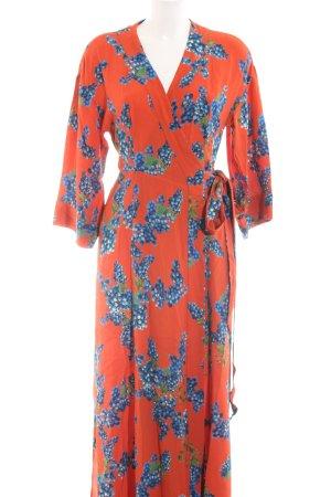 Ivy & Oak Vestido cruzado estampado floral elegante