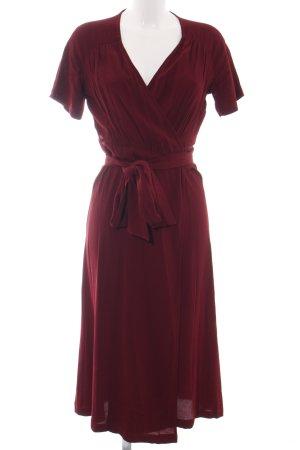 Ivy & Oak Vestido cruzado rojo elegante