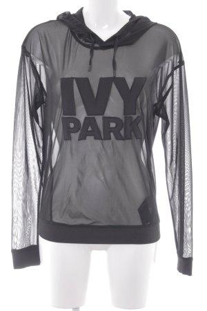 Ivy Park Jersey con capucha negro look transparente