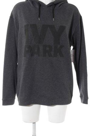 Ivy Park Kapuzensweatshirt anthrazit Schriftzug gedruckt Casual-Look