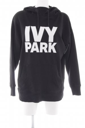 Ivy Park Kapuzensweatshirt schwarz-weiß Schriftzug gedruckt Casual-Look