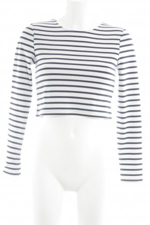 Ivyrevel Cropped Shirt natural white-blue horizontal stripes minimalist style