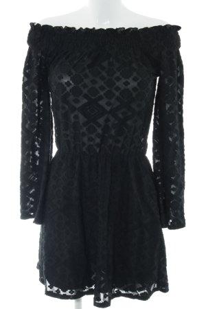 Ivyrevel Minikleid schwarz grafisches Muster Elegant