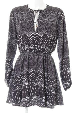 Ivyrevel Minikleid schwarz-weiß Allover-Druck Casual-Look