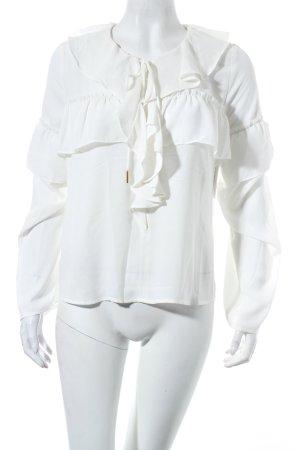 Ivyrevel Rüschen-Bluse weiß-goldfarben Eleganz-Look
