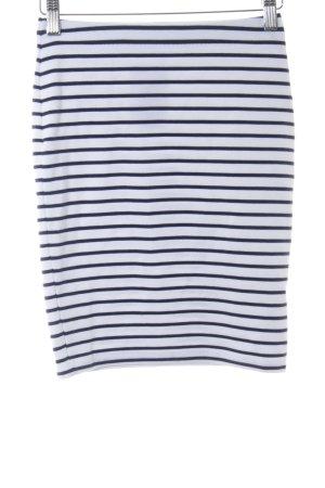 Ivyrevel Stretchrock weiß-dunkelblau Streifenmuster Casual-Look