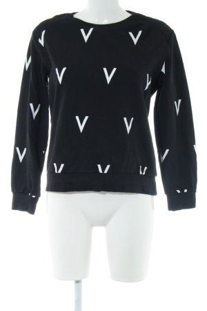 Ivyrevel Sweatshirt schwarz-weiß Motivdruck Casual-Look
