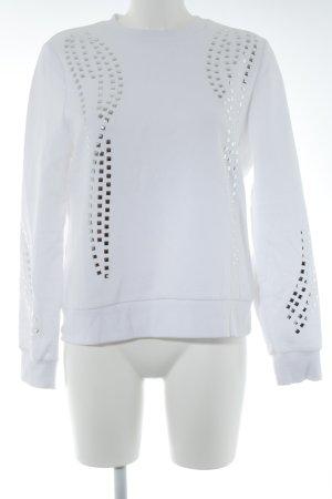 Ivyrevel Sweatshirt weiß-silberfarben Casual-Look