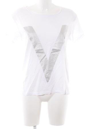 Ivyrevel T-Shirt weiß Motivdruck Business-Look