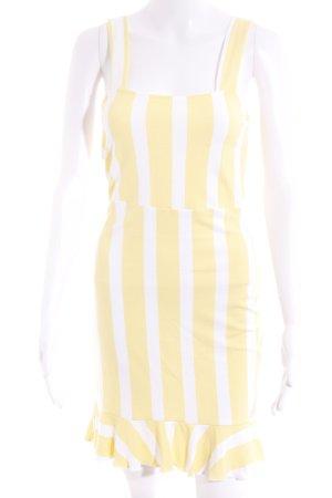 Ivyrevel Trägerkleid wollweiß-gelb Streifenmuster Casual-Look