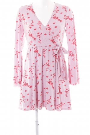 Ivyrevel Vestido cruzado rosa-rojo estampado floral look casual