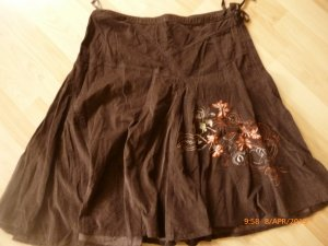 Broomstick Skirt brown-black brown cotton
