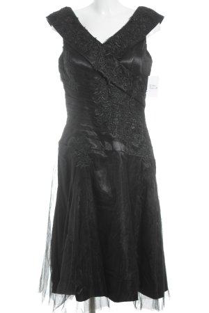 IZIDRESS Abendkleid schwarz Blumenmuster Elegant