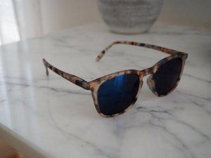 Gafas de sol redondas negro-marrón