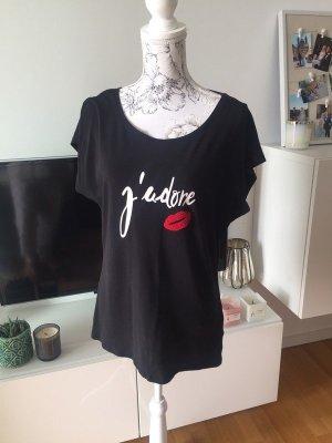 J'adore T-Shirt schwarz weiß rot Gr L neu