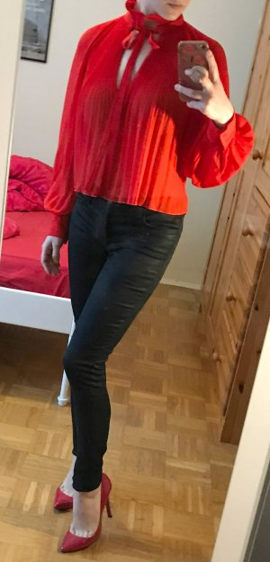 J Brand beschichtete Jeans Gr. 26 XS schwarz coated super skinny jeans hose