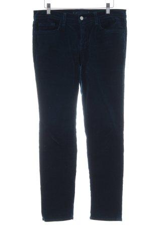 J brand Pantalone di velluto a coste petrolio look vintage