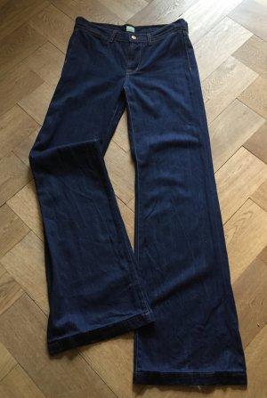 J Brand flared Jeans, Modell Malik, dunkelblau, W27/L ca. 34