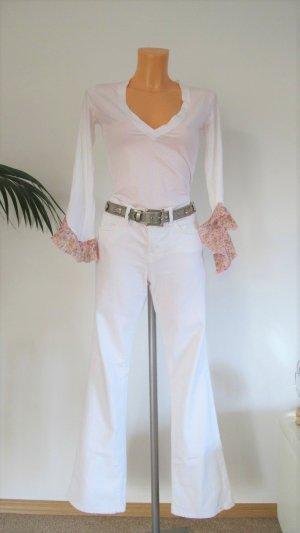 J brand Boot Cut Jeans white mixture fibre