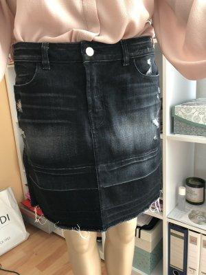 J brand Gonna di jeans antracite-nero