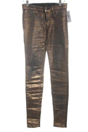 J brand Jeggings schwarz-bronzefarben Glanz-Optik