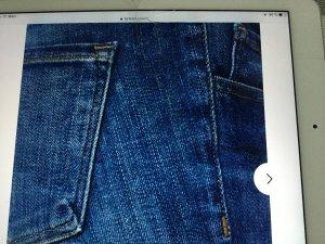 Jeans 7/8 bleu acier-bleu foncé