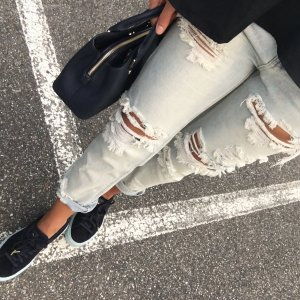 J Brand Ripped Jeans Washed Optik
