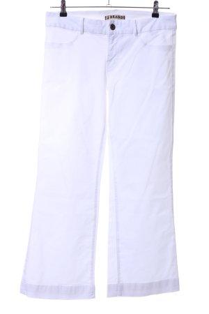 J brand Pantalón de campana blanco look casual